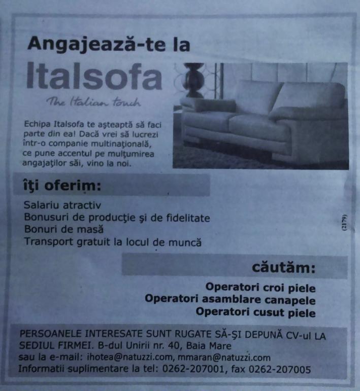 Cum este sa lucrezi la Italsofa? Ce este bine, ce este rau?