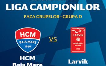 Dam o pizza pentru cel mai bun pronostic pentru HCM Baia Mare – Larvik!