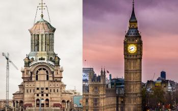 """""""Big Ben"""" de Baia Mare. Catedrala """"Sfânta Treime"""" va rivaliza cu renumitul ceas din Londra"""