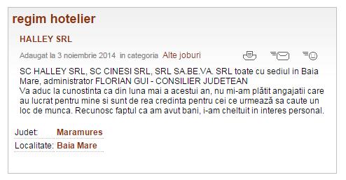 Consilier județean, reclamat de proprii angajați?