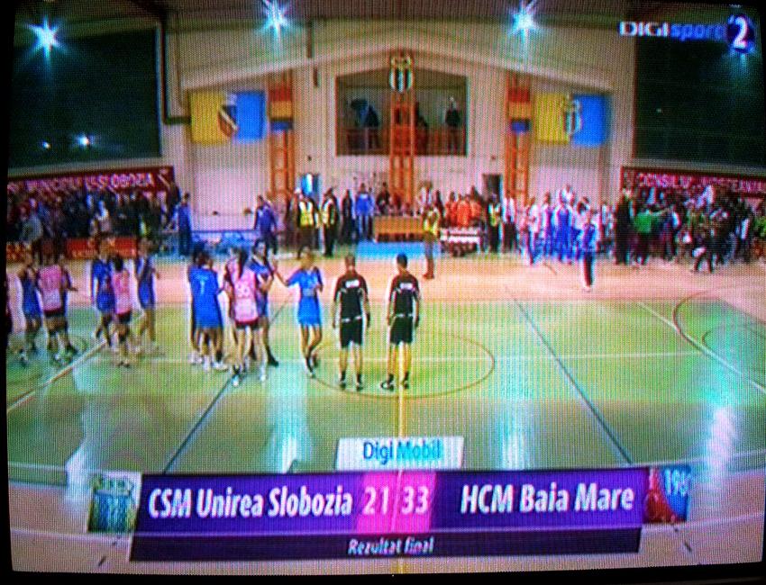 HCM Baia Mare a câștigat lejer disputa cu CSM Unirea Slobozia (21-33)