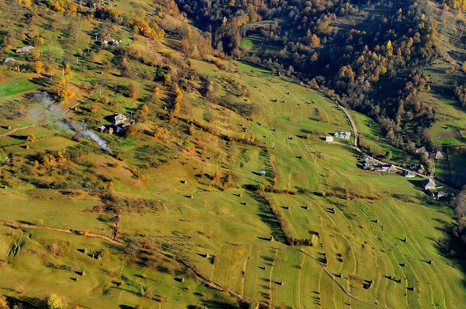 Dealurile Maramureșului, din avion