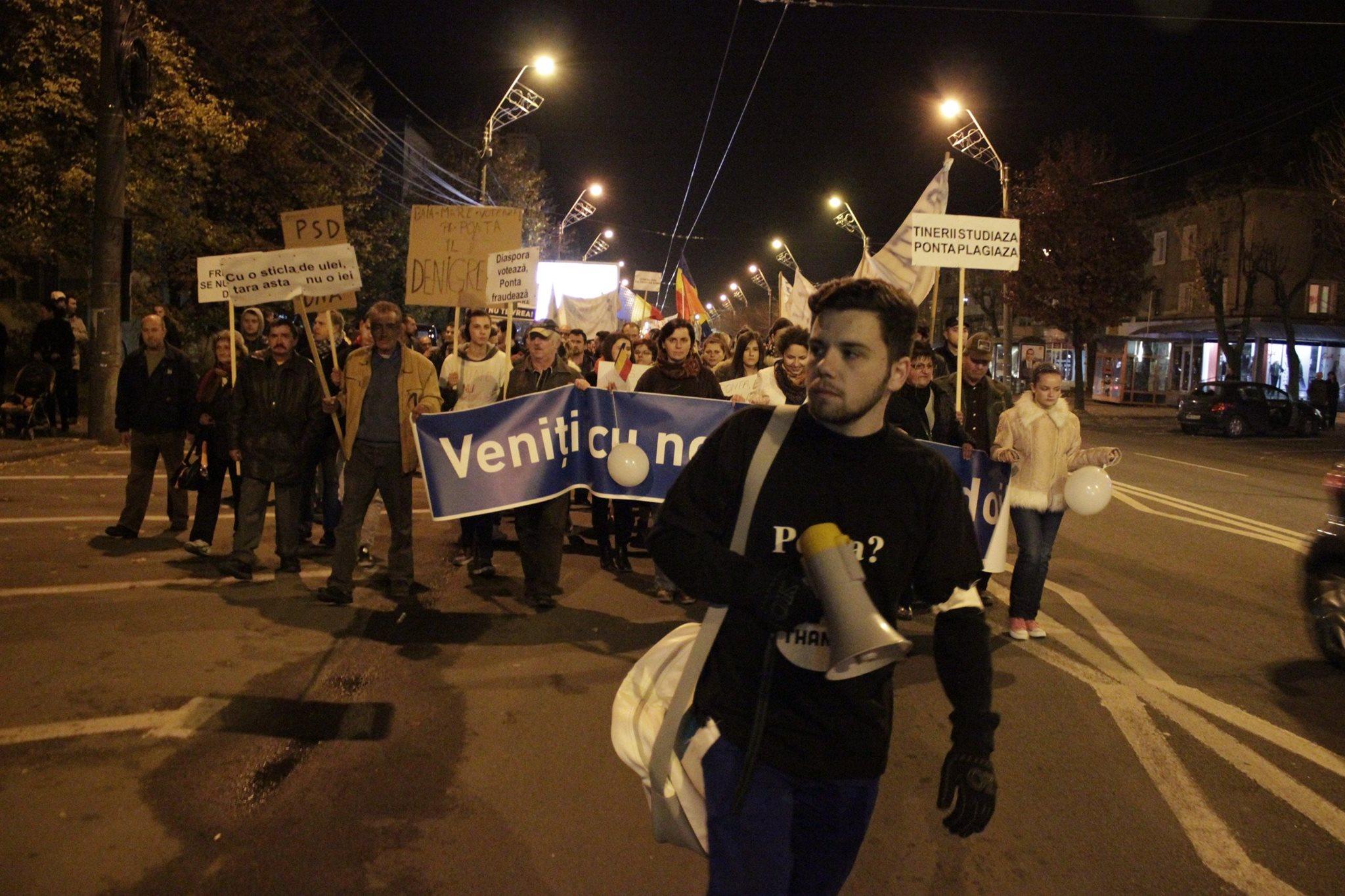 Băimărenii i-au amintit lui Ponta că nu-l vor președinte