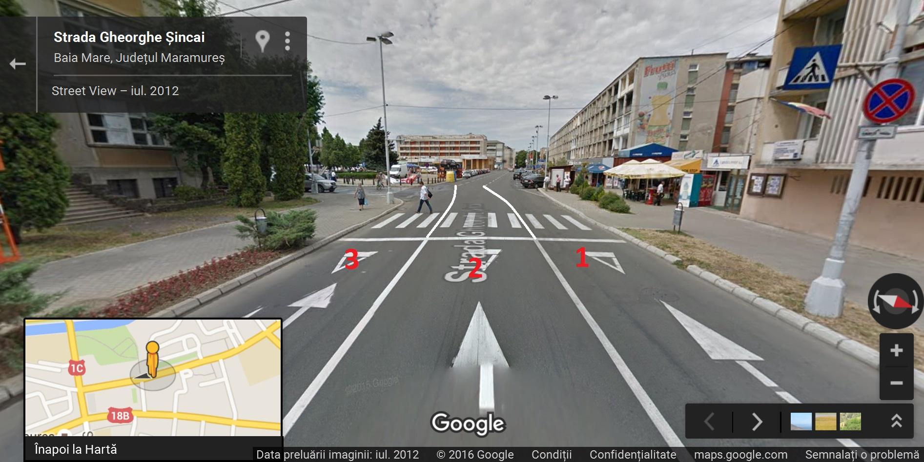 Un cetățean solicită optimizarea marcajelor rutiere de pe strada Gheorghe Șincai