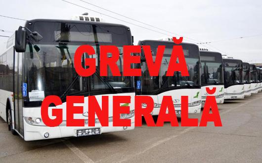 Vineri, posibilă grevă generală la Urbis, autobuzele urmând a fi parcate în fața Primăriei.