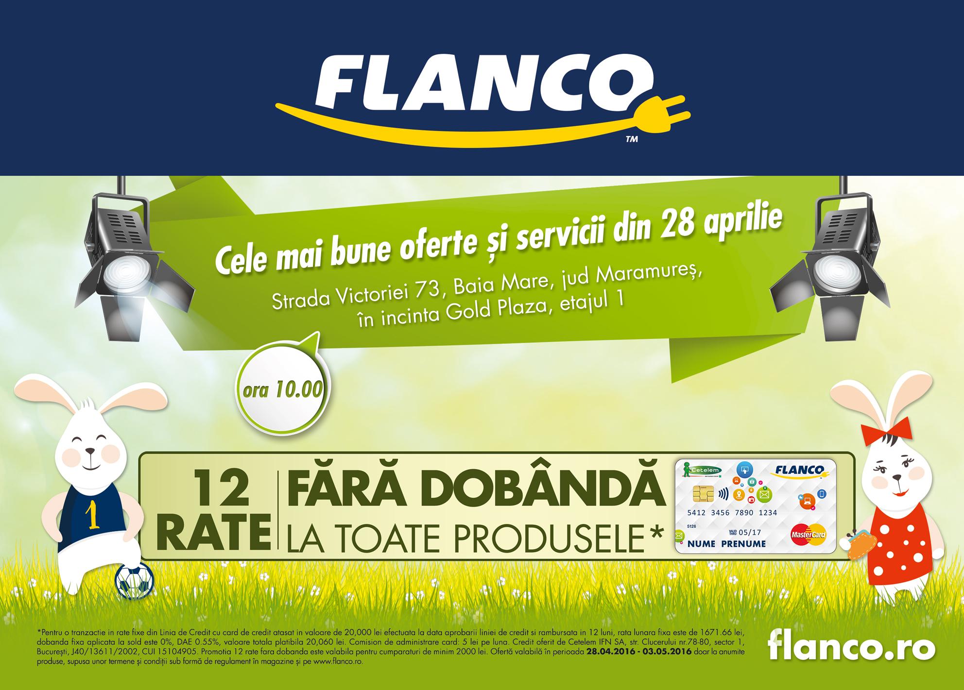 Flanco deschide două noi magazine în Baia Mare și Sighet