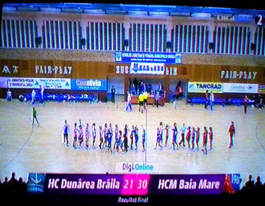 Antrenament cu public. HCM Baia Mare a invins Dunarea Braila(30 – 21)